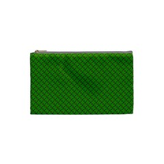 Paper Pattern Green Scrapbooking Cosmetic Bag (Small)