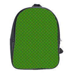 Paper Pattern Green Scrapbooking School Bags(Large)