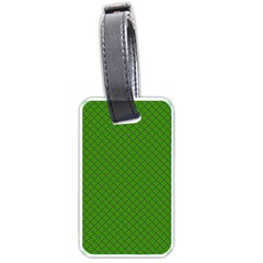 Paper Pattern Green Scrapbooking Luggage Tags (one Side)