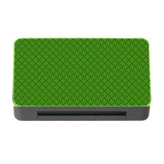 Paper Pattern Green Scrapbooking Memory Card Reader With Cf