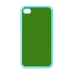 Paper Pattern Green Scrapbooking Apple iPhone 4 Case (Color)