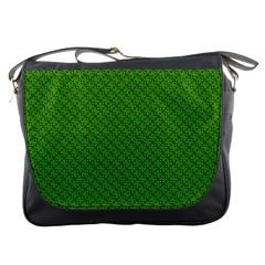 Paper Pattern Green Scrapbooking Messenger Bags