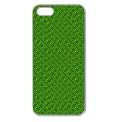 Paper Pattern Green Scrapbooking Apple Seamless iPhone 5 Case (Clear)