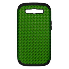 Paper Pattern Green Scrapbooking Samsung Galaxy S III Hardshell Case (PC+Silicone)