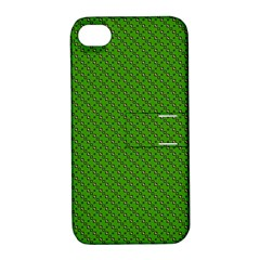 Paper Pattern Green Scrapbooking Apple Iphone 4/4s Hardshell Case With Stand