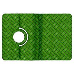 Paper Pattern Green Scrapbooking Kindle Fire Hdx Flip 360 Case