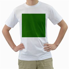 Paper Pattern Green Scrapbooking Men s T Shirt (white)