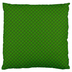 Paper Pattern Green Scrapbooking Large Flano Cushion Case (One Side)