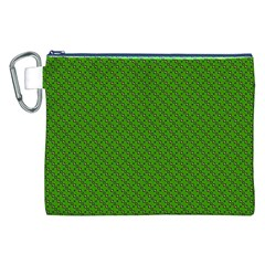 Paper Pattern Green Scrapbooking Canvas Cosmetic Bag (xxl)