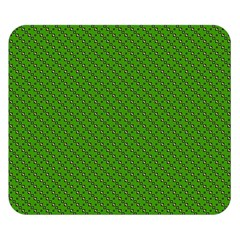 Paper Pattern Green Scrapbooking Double Sided Flano Blanket (Small)