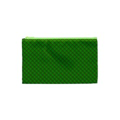 Paper Pattern Green Scrapbooking Cosmetic Bag (XS)