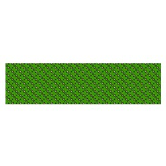 Paper Pattern Green Scrapbooking Satin Scarf (oblong)