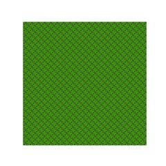 Paper Pattern Green Scrapbooking Small Satin Scarf (Square)