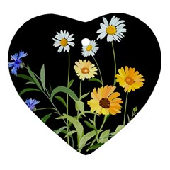 Flowers Of The Field Ornament (heart)