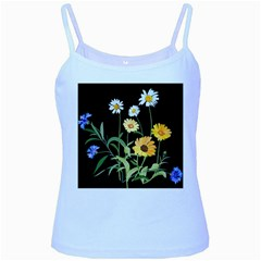 Flowers Of The Field Baby Blue Spaghetti Tank