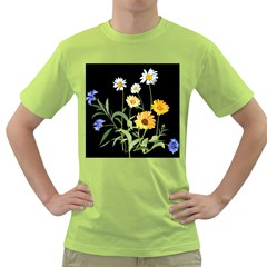 Flowers Of The Field Green T-Shirt