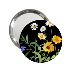 Flowers Of The Field 2 25  Handbag Mirrors