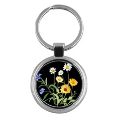 Flowers Of The Field Key Chains (Round)