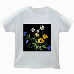 Flowers Of The Field Kids White T Shirts