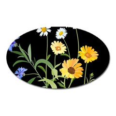 Flowers Of The Field Oval Magnet