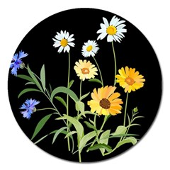 Flowers Of The Field Magnet 5  (round)