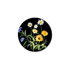 Flowers Of The Field Golf Ball Marker (4 Pack)