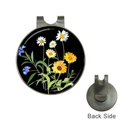 Flowers Of The Field Hat Clips With Golf Markers