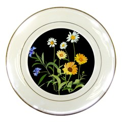 Flowers Of The Field Porcelain Plates