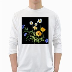 Flowers Of The Field White Long Sleeve T-Shirts