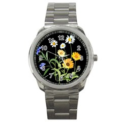 Flowers Of The Field Sport Metal Watch