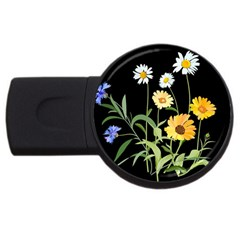 Flowers Of The Field USB Flash Drive Round (4 GB)