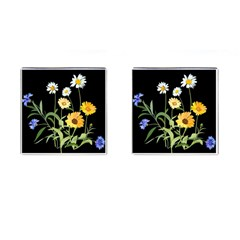 Flowers Of The Field Cufflinks (square)