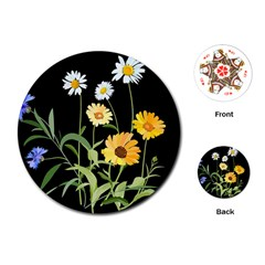 Flowers Of The Field Playing Cards (round)