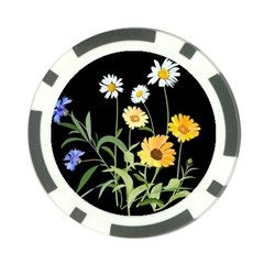 Flowers Of The Field Poker Chip Card Guard