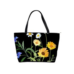 Flowers Of The Field Shoulder Handbags