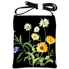 Flowers Of The Field Shoulder Sling Bags