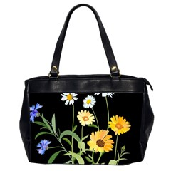 Flowers Of The Field Office Handbags (2 Sides)