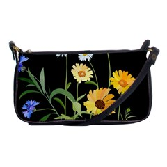 Flowers Of The Field Shoulder Clutch Bags