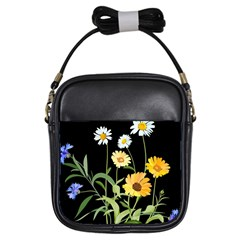 Flowers Of The Field Girls Sling Bags