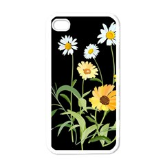 Flowers Of The Field Apple iPhone 4 Case (White)
