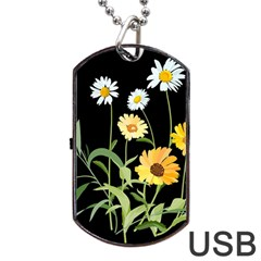 Flowers Of The Field Dog Tag Usb Flash (one Side)