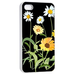 Flowers Of The Field Apple Iphone 4/4s Seamless Case (white)