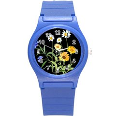 Flowers Of The Field Round Plastic Sport Watch (s)