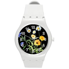 Flowers Of The Field Round Plastic Sport Watch (m)