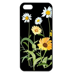 Flowers Of The Field Apple Iphone 5 Seamless Case (black)