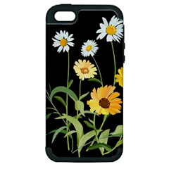 Flowers Of The Field Apple iPhone 5 Hardshell Case (PC+Silicone)