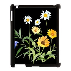 Flowers Of The Field Apple iPad 3/4 Case (Black)