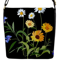 Flowers Of The Field Flap Messenger Bag (s)