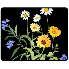 Flowers Of The Field Double Sided Fleece Blanket (Medium)