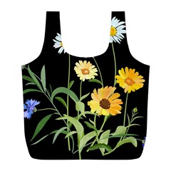 Flowers Of The Field Full Print Recycle Bags (L)